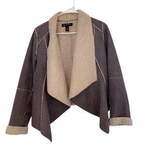 International Concept coat faux suede & faux sherp